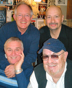 Bobby with Brian Bennett, Clem Cattini and Steve Smith