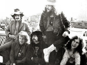 Clive (far left) with Jethro Tull