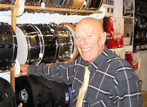 Eric at Toms Drums on Denmark Street