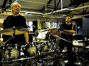Paul with Alan White from Yes