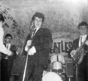 Pete singing with the Beatles, Paul on drums