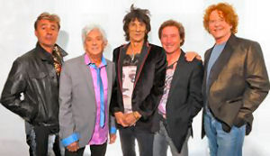 The Faces in 2010 with guest vocalist Mick Hucknall