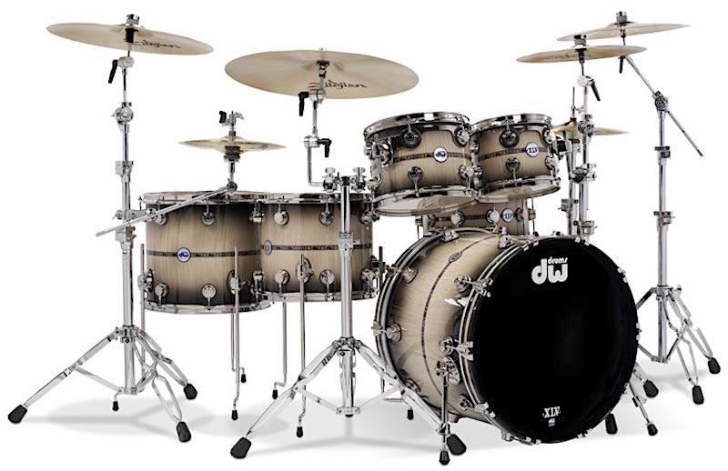 Drum Workshop 45th Anniversary Sapphire Kit Mike Dolbear